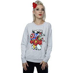 Marvel Comics Ladies Sweatshirt: Comic Characters (XX-Large)