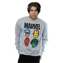 Marvel Comics Men's Sweatshirt: Comics Main Heads