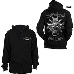 Motorhead Men's Zipped Hoodie: Bad Magic