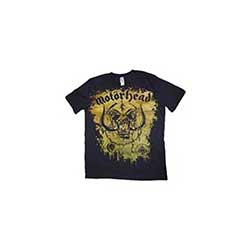 Motorhead Men's Premium Tee: Acid Splatter with Puff Print Finishing