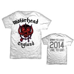 Motorhead Men's Tee: World Cup England with Back Printing