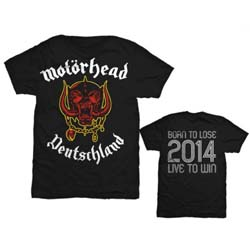 Motorhead Men's Tee: World Cup Germany with Back Printing