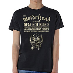 Motorhead Men's Tee: Deaf Not Blind