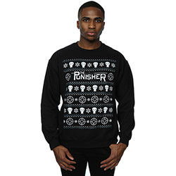 Marvel Comics Men's Sweatshirt: Punisher Christmas (Small)
