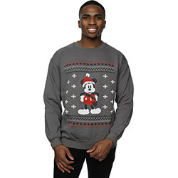 Disney Men's Sweatshirt: Mickey Mouse Scarf Christmas