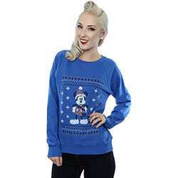 Disney Ladies Sweatshirt: Mickey Mouse Scarf Christmas