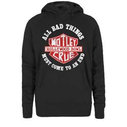 Motley Crue Ladies Pullover Hoodie: Bad Boys Shield