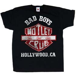 Motley Crue Kids Toddler's Fit Tee: Bad Boys Shield