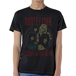 Motley Crue Men's Tee: Vintage World Tour Devil
