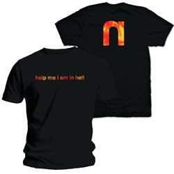 Nine Inch Nails Men's Tee: Help Me with Back Printing