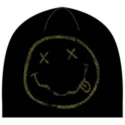 Nirvana Men's Beanie Hat: Smiley