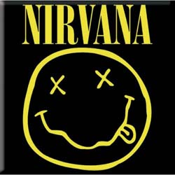 Nirvana Fridge Magnet: Smiley