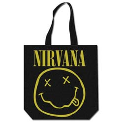 Nirvana Cotton Tote Bag: Smiley
