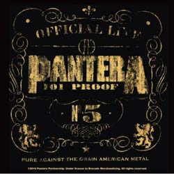 Pantera Single Cork Coaster: Proof