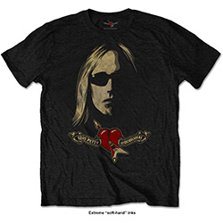 Tom Petty Men's Tee: Shades & Logo with Soft Hand Inks