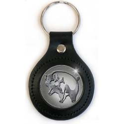 Pink Floyd Premium Key-Chain: Pig (Classic Leather Fob.)