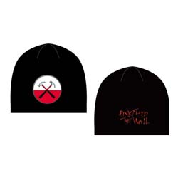 Pink Floyd Men's Beanie Hat: The Wall Hammers Logo