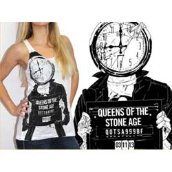 Queens Of The Stone Age Ladies Tank Top: Mugshot