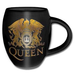 Queen Boxed Oval Mug: Gold Crest with Oval Shaping and Embossed Finish