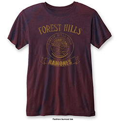 Ramones Men's Fashion Tee: Forest Hills (Burn Out)