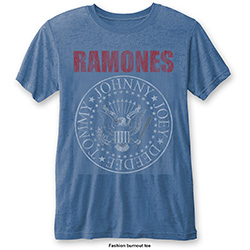 Ramones Men's Fashion Tee: Presidential Seal (Burn Out)
