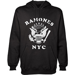 Ramones Men's Pullover Hoodie: Retro Eagle New York City