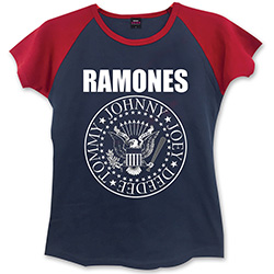 Ramones Ladies Fashion Tee: Presidential Seal with Skinny Fitting