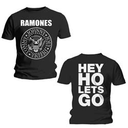 Ramones Men's Tee: Hey Ho (Front & Back) with Back Printing