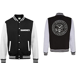 Ramones Men's Varsity Jacket: Presidential Seal with Back Printing