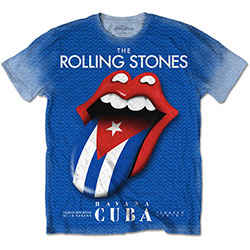 The Rolling Stones Men's Tee: Havana Cuba with Sublimation Printing