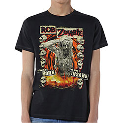 Rob Zombie Men's Tee: Born to Go Insane