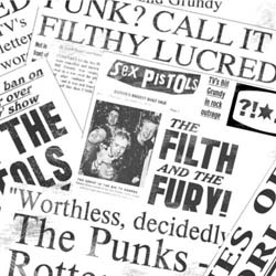 The Sex Pistols Greetings Card: Newspaper