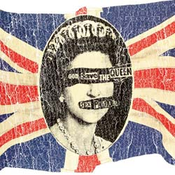The Sex Pistols Greetings Card: Union Jack