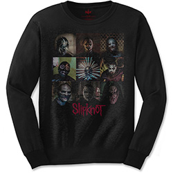 Slipknot Men's Long Sleeved Tee: Blocks
