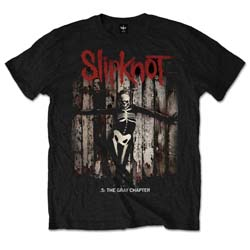 Slipknot Men's Tee: .5: The Gray Chapter Album