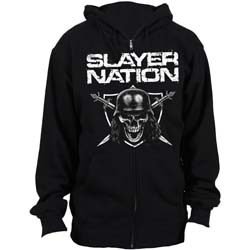 Slayer Men's Zipped Hoodie: Slayer Nation