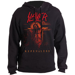 Slayer Men's Pullover Hoodie: Repentless Crucifix