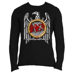 Slayer Men's Long Sleeved Tee: Silver Eagle