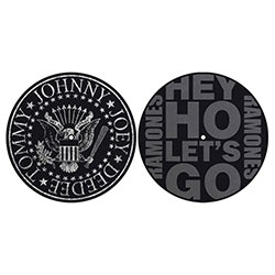 Ramones Slipmat Set: Classic Seal / Hey Ho