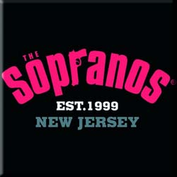 The Sopranos Fridge Magnet: Collegiate Logo