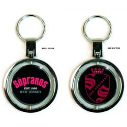 The Sopranos Premium Key-Chain: Collegiate & Crest (Spinner)