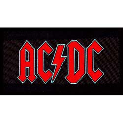 AC/DC Standard Patch: Red Logo