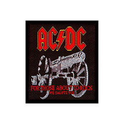 AC/DC Standard Patch: For those about to Rock
