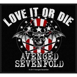 Avenged Sevenfold Standard Patch: Love It Or Die