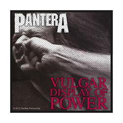 Pantera Standard Patch: Vulgar Display Of Power