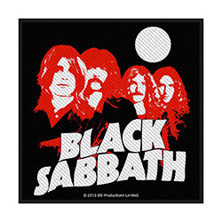 Black Sabbath Standard Patch: Red Portraits