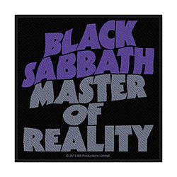 Black Sabbath Standard Patch: Master Of Reality