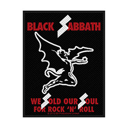 Black Sabbath Standard Patch: Sold Our Souls