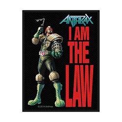 Anthrax Standard Patch: I Am The Law