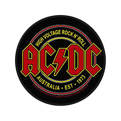 AC/DC Standard Patch: High Voltage Rock N Roll